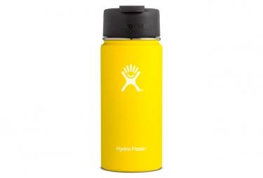 Image of Gourde hydro flask wide mouth flid lid 473ml lemon jaune