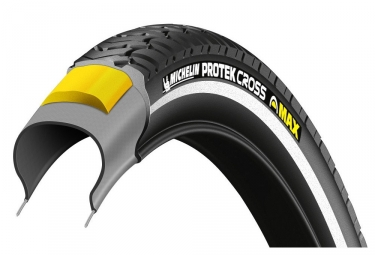 pneu urbain michelin protek cross max 700mm tubetype rigide renfort anti crevaison 5
