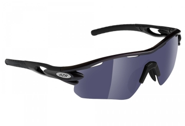 AZR Tour RX Sunglasses Black Mat - Grey miroir