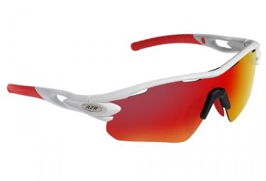 Paire de lunettes azr tour rx blanc rouge ecran rouge