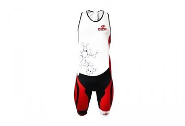 Bv sport combinaison trifonction tri 3x100 blanc rouge l
