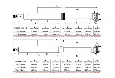 Tige de Selle Télescopique E-Thirteen TRS Plus   Débattement 150mm