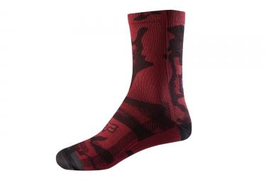 Paire de chaussettes femme fox 20cm trail rouge