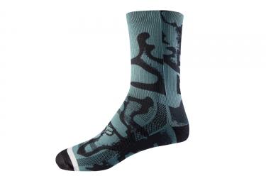 Fox Trail Women's Socks 8'' Blue Black