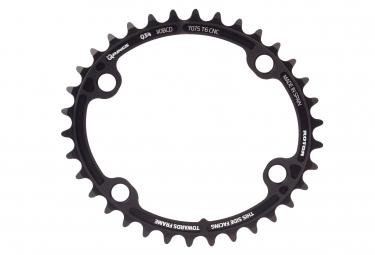 ROTOR ALDHU 3D+ Oval Chainring Internal 4x110mm Black