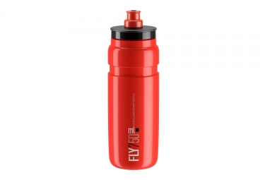 Bidon elite fly 750ml rouge noir
