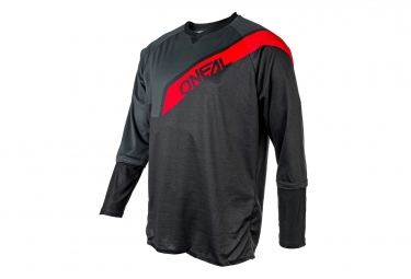 Maillot manches longues o neal stormrider gris rouge s