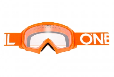 Oneal B-10 Solid Youth Goggle Orange Frame Lente trasparente