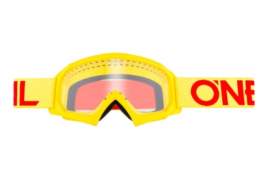 Oneal B-10 Solid Youth Goggle Yellow Red Frame Lenti trasparenti