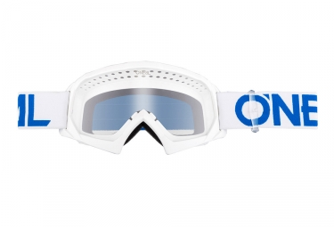 Oneal B-10 Solid Youth Goggle White Blue Frame Lente trasparente