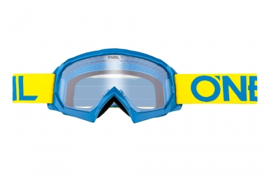 Oneal B-10 Solid Youth Goggle Blue Yellow Frame Clear Lens