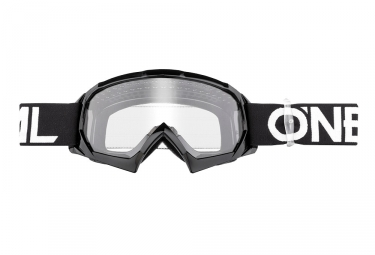 Oneal B-10 Solid Youth Goggle Black White Frame Lente trasparente