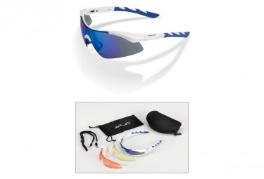 Paire de lunettes xlc komoda sg c09 blanc bleu