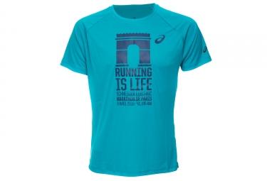 Camiseta Técnica ASICS Paris Marathon Azul