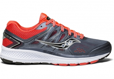 Chaussures running femme saucony omni 16 gris rouge 38