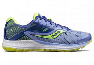 Chaussures running femme saucony ride 10 violet jaune 39