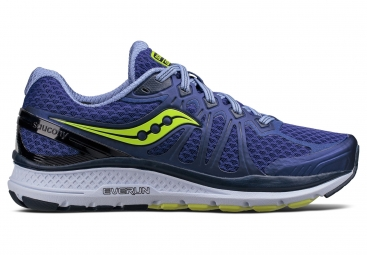 Chaussures running femme saucony echelon 6 bleu marine jaune 40 1 2