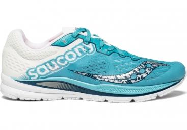 Chaussures de Running Femme Saucony Fastwitch 8 Blanc / Bleu