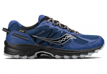 Chaussures running saucony excursion tr11 gtx bleu gris 44