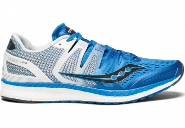 Chaussures running saucony liberty iso bleu blanc 46