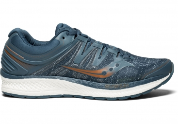 Chaussures running saucony hurricane iso 4 bleu fonce 43