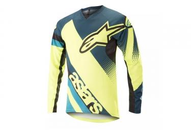 maillot manches longues alpinestars youth racer bleu jaune s