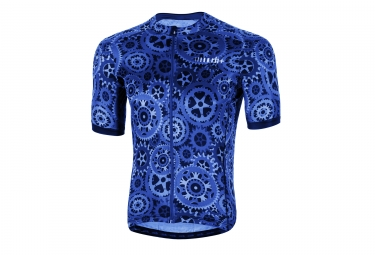 Maillot manches courtes zero rh powers bluette bleu xl