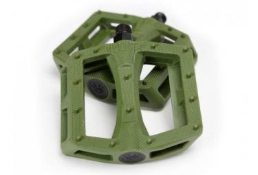 pedales plates bmx freestyle cult dak olive vert