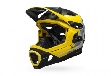 Bell Super DH Mips Helmet with Removable Chinstrap Yellow Matte Black