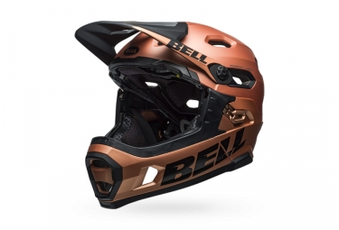 Bell Super DH Mips Helmet with Removable Chinstrap Copper Black