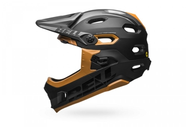Bell Super DH Mips Helmet with Removable Chinstrap Matte Black Gold