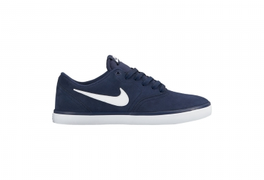 Chaussures nike sb check solarsoft bleu blanc 43