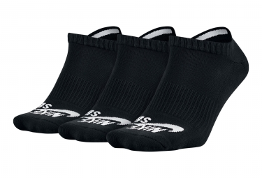 Nike SB No-Show Socks Black / White (3 Pairs)