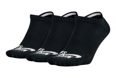 Chaussettes Nike SB No-Show (3 paires) Noir / Blanc