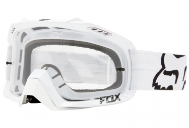 Masque fox air defence blanc ecran transparent