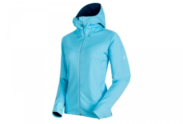 Mammut Ultimate V SO Hooded Jacket Blue