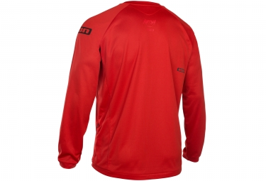 Maillot Manches Longues ION Scrub AMP Rouge