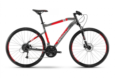 Haibike SEET Cross 3.0 Touring Bike Shimano Altus 9S Grey / Red