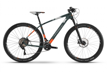 Vtt semi rigide haibike greed hardnine 8 0 29 shimano xt m8000 11 vitesses vert orange m 165 175 cm