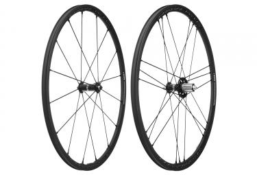 Paire de roues campagnolo shamal mille c17 campagnolo patins 9 x 100 9 x 130 mm