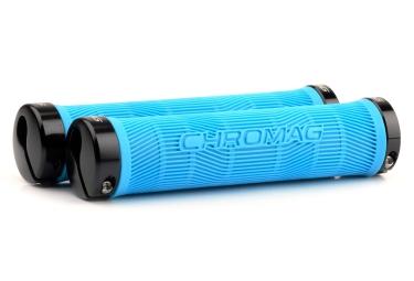 CHROMAG Lock-on Grips PALMSKIN 142mm Blue/Black