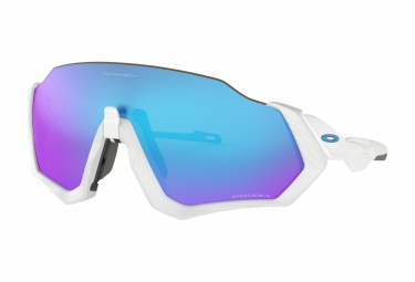OAKLEY Flight Jacket Sunglasses White/Prizm Sapphire