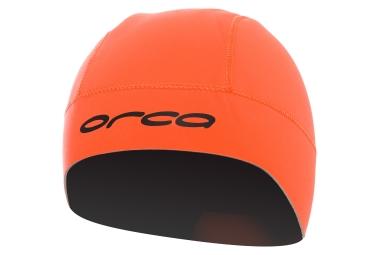 bonnet de bain neoprene orca orange l xl
