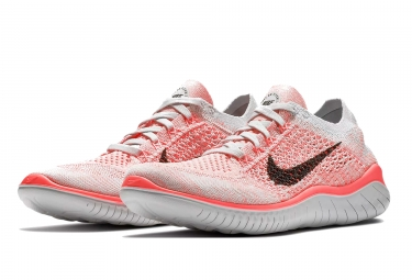 Nike Free RN Flyknit 2018 Rose Blanc Femme