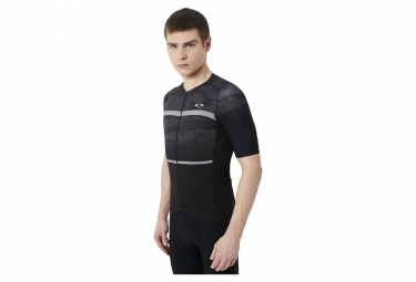 maillot manches courtes oakley jawbreaker road blackout xl