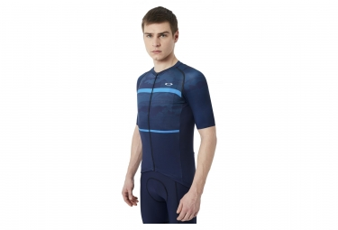 maillot manches courtes oakley jawbreaker road atomic blue m