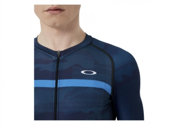 OAKLEY Jawbreaker Road Short Sleeves Jersey Atomic Blue