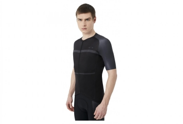 Maillot manches courtes oakley colorblock road blackout s
