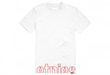 T shirt etnies manches courtes stencil crop blanc m