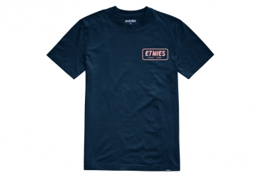 T shirt manches courtes etnies quality control navy bleu m